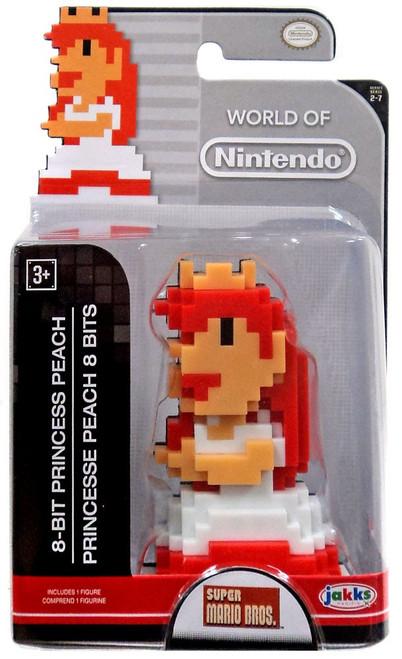 World of Nintendo Princess Peach 8 Bit 2.5-Inch Mini Figure