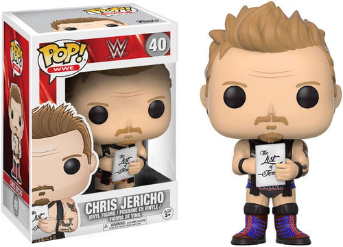 Funko WWE Wrestling POP! Sports Chris Jericho Exclusive Vinyl Figure #40 [Purple Laces]