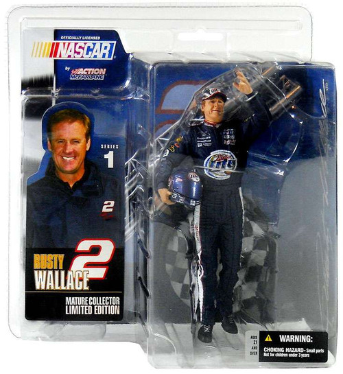 McFarlane Toys NASCAR Rusty Wallace Action Figure [Damaged Package]