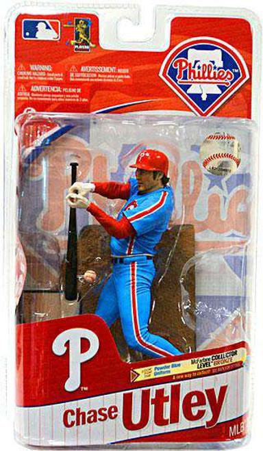 McFarlane Toys MLB Philadelphia Phillies Sports Picks Series 27 Chase Utley Action Figure [Powder Blue Jersey Variant, Damaged Package]