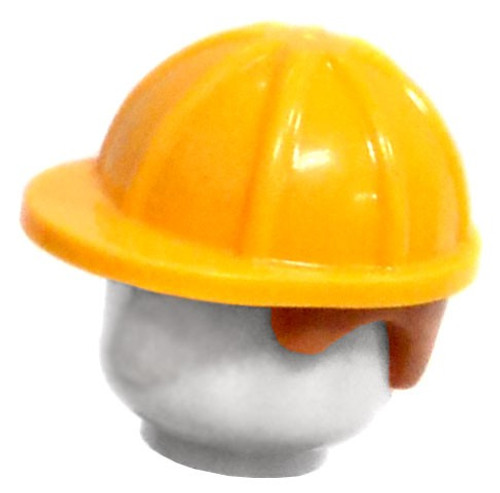 Yellow Hard Hat [With Brown Hair Loose]