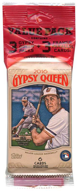 MLB Topps 2016 Gypsy Queen Baseball Trading Card VALUE Pack