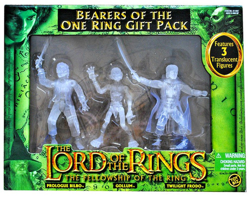 The Lord of the Rings The Fellowship of the Ring Bearers of The One Ring Action Figure 3-Pack [Prologue Bilbo, Gollum & Twilight Frodo]