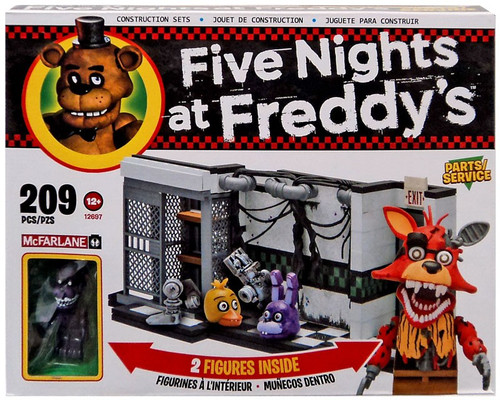 McFarlane Toys Five Nights at Freddy's Parts / Service Exclusive Construction Set [Withered Foxy & Shadow Freddy] (Pre-Order ships July)