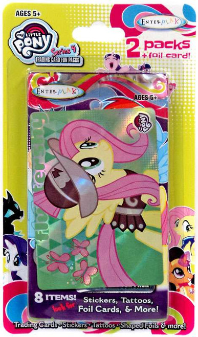 My Little Pony Friendship is Magic Fun Packs Series 4 Fluttershy Trading Card 2-Pack [2 Packs + Foil Card]