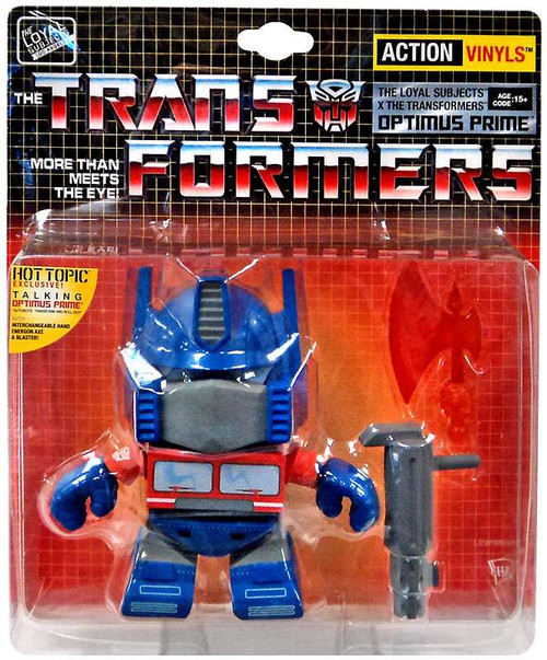 "Transformers Action Vinyls Talking Optimus Prime Exclusive 5-Inch 5"" Vinyl Figure [Damaged Package]"