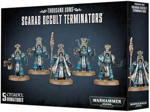 Warhammer 40,000 Chaos Space Marines Thousand Sons Scarab Occult Terminators [Thousand Sons]
