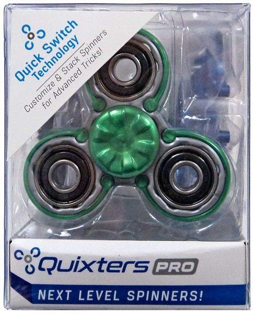 Quixters Gray Pro Spinner [Green Outside]