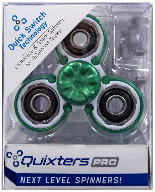 Quixters White Pro Spinner [Green Outside]