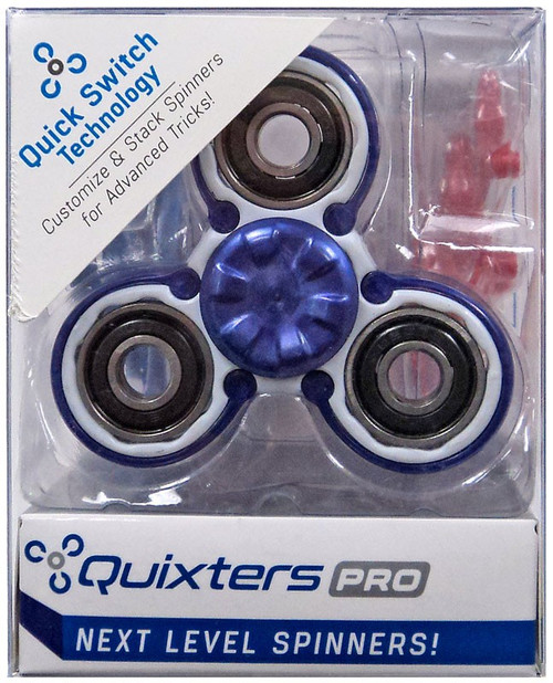 Quixters White Pro Spinner [Purple Outside]