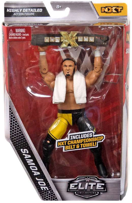 WWE Wrestling Elite Collection Samoa Joe Exclusive Action Figure [NXT Championship Belt & Towel!]