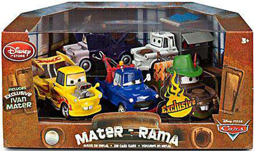 Disney / Pixar Cars Cars 2 1:43 Multi-Packs Mater-Rama Exclusive Diecast Car Set [Damaged Package]