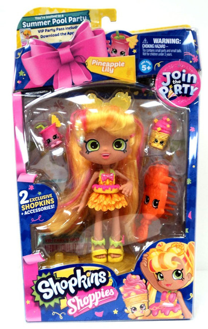 Shopkins Shoppies Join the Party Pineapple Lily Doll Figure