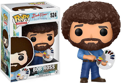 Funko Joy of Painting POP! TV Bob Ross Vinyl Figure #524 [Holding Paint Palette]