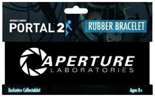 Portal 2 Aperture Laboratories Logo Rubber Bracelet [Black]