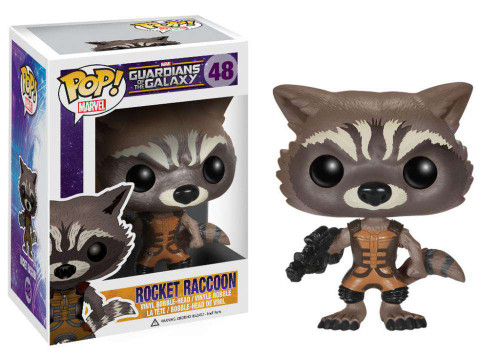 Funko Guardians of the Galaxy POP! Marvel Rocket Raccoon Vinyl Bobble Head #48 [Damaged Package]