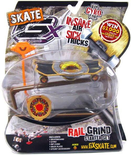 GX Racers Skate Rail Grind Flame Retardant 55mm Deck Plate Starter Set [Arrowhead Board]