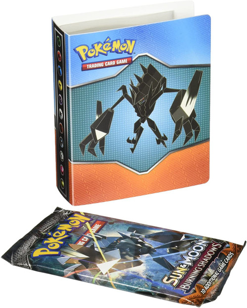 Nintendo Pokemon Sun & Moon Burning Shadows Mini Portfolio [Includes Booster Pack, Holds 60 Cards]