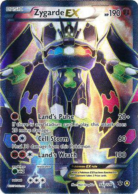 Pokemon X & Y Promo Full Art Rare Zygarde EX 54a [Alternate]