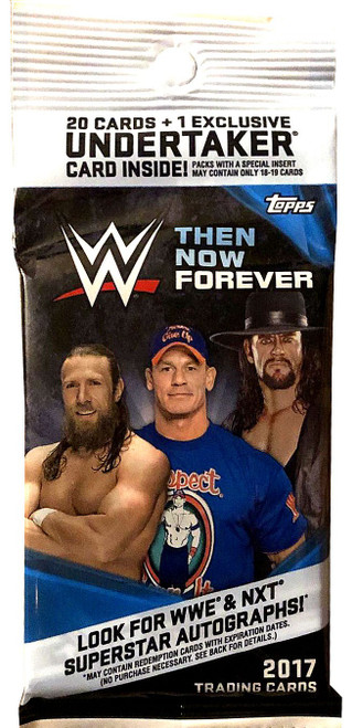 WWE Wrestling Topps 2017 Then Now Forever Trading Card VALUE Pack [20 Cards + 1 Exclusive Undertaker Card!]