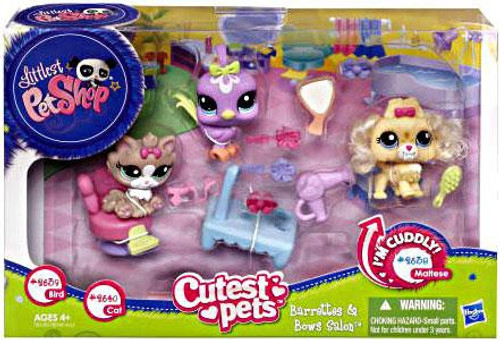 Littlest Pet Shop Cutest Pets Barrettes & Bows Salon Playset