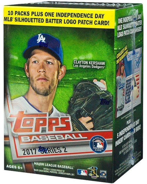 MLB Topps 2017 Series 2 Baseball Trading Card BLASTER Box [10 Packs + 1 Logo Patch Card!]
