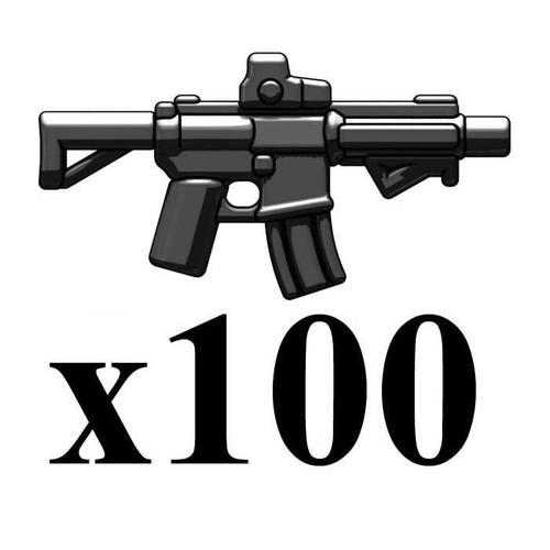 BrickArms Lot of 100 M4-SBR 2.5-Inch [Black]