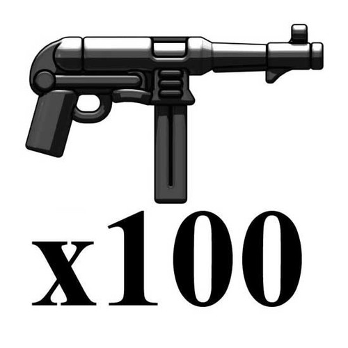 BrickArms Lot of 100 MP40 V3 2.5-Inch [Black]