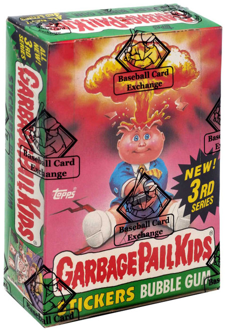 Garbage Pail Kids Topps All New 3rd Series Trading Card Sticker Box [48 Packs, BBCE Wrapped!]