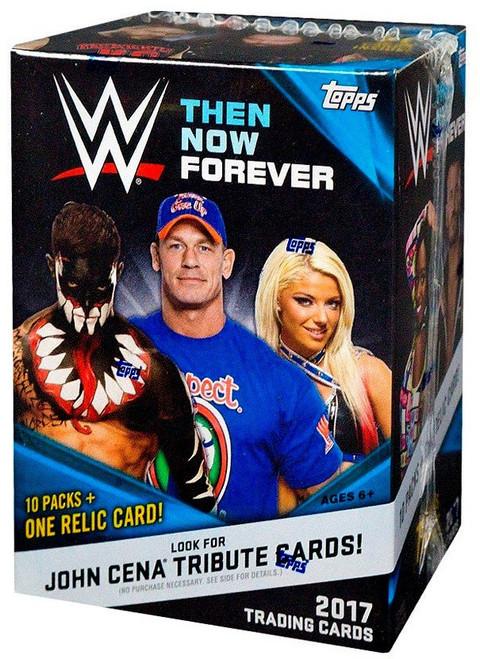 WWE Wrestling Topps 2017 Then Now Forever Trading Card BLASTER Box [10 Packs & 1 Relic Card!]
