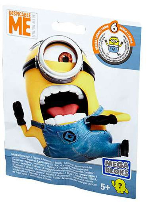 Mega Bloks Despicable Me Minion Made Series 6 Mystery Pack [1 RANDOM Figure]