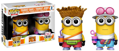 Funko Despicable Me 2 POP! Movies Tourist Dave & Tourist Jerry Exclusive Vinyl Figure 2-Pack