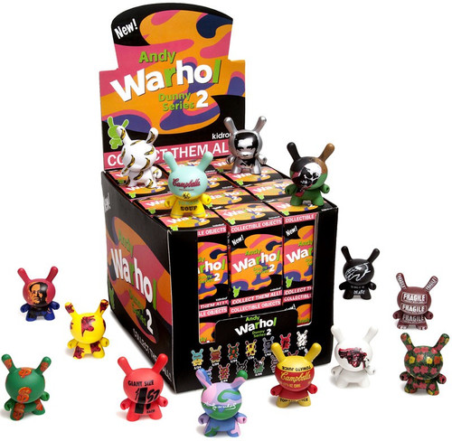 Andy Warhol Vinyl Mini Object Figure Dunny Series 2 3-Inch Mystery Box [24 Packs]