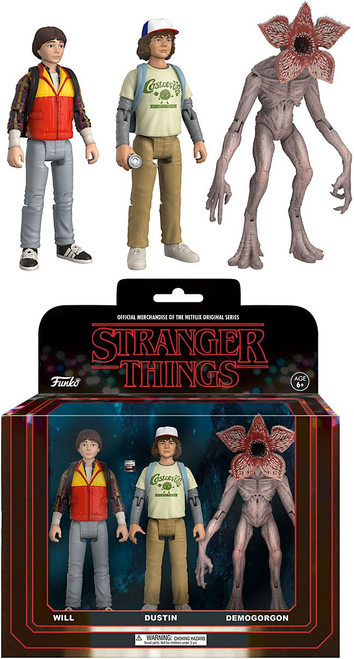 Funko Stranger Things Will, Dustin & Demogorgon Action Figure 3-Pack