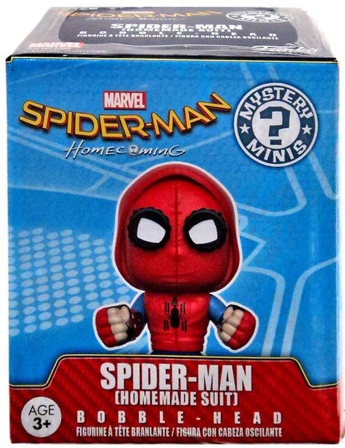 Funko Marvel Mystery Minis Spider-Man Exclusive Vinyl Bobble Head [Homemade Suit]