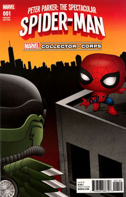 Funko Marvel Collector Corps Peter Parker: The Spectacular Spider-Man #001 Exclusive Comic Book
