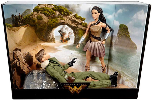 DC Wonder Woman Movie Barbie Wonder Woman & Captain Steve Trevor Doll 2-Pack