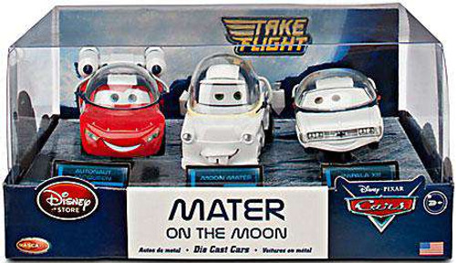 Disney / Pixar Cars Cars Toon 1:43 Multi-Packs Mater on the Moon Exclusive Diecast Car Set [Damaged Package]