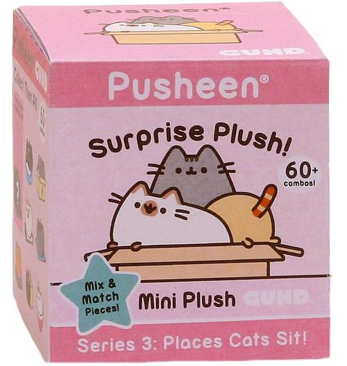 Pusheen Series 3 Places Cats Sit! Mystery Pack [1 RANDOM Mini Plush Figure]