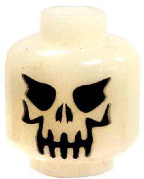 Glow-in-the-Dark Evil Skull Minifigure Head [Loose]