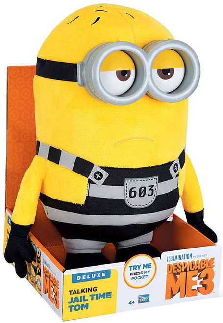 Despicable Me 3 Jail Time Tom Exclusive 9.5-Inch Talking Plush