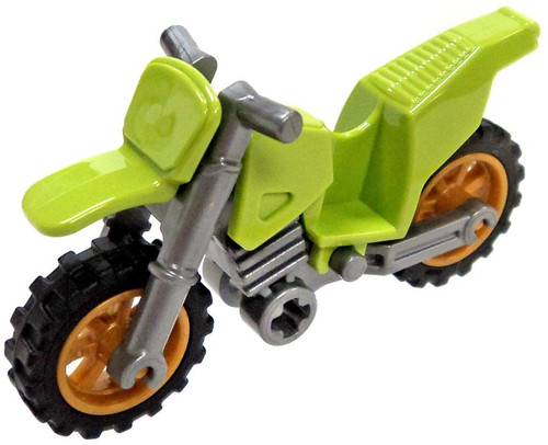 LEGO Green Dirt Bike with Gold Rims Vehicle [Loose]
