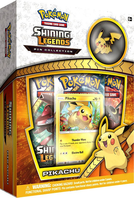 Pokemon Trading Card Game Shining Legends Pikachu Pin Collection Box [3 Booster Packs, Promo Card & Pin]