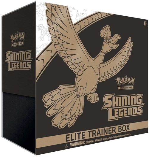 Pokemon Trading Card Game Shining Legends Ho-Oh Elite Trainer Box [10 Booster Packs, Promo Card, 65 Card Sleeves, 45 Energy Cards & More]