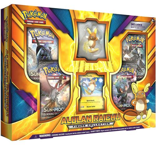 Pokemon Trading Card Game Sun & Moon Burning Shadows Alolan Raichu Figure Collection [4 Booster Packs, Promo Card & Figure]