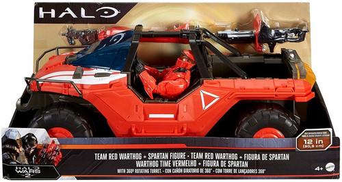 Halo Team Red Warthog & Spartan 12 Inch Figure & Vehicle