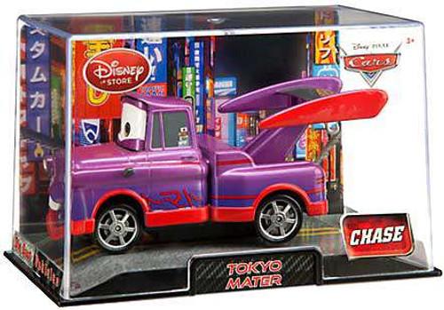 Disney / Pixar Cars 1:43 Collectors Case Tokyo Mater Exclusive Diecast Car [Purple, Damaged Package]