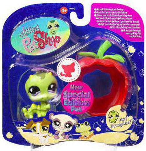 Littlest Pet Shop 2009 Assortment B Series 1 Inchworm Figure #829 [Apple, Damaged Package]