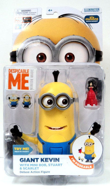 Despicable Me Giant Kevin Deluxe Action Figure [With Mini Bob, Stuart & Scarlet]