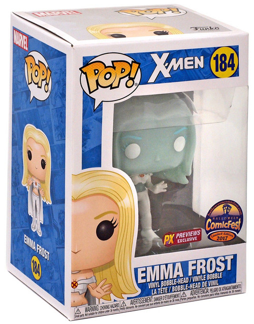 Funko X-Men POP! Marvel Emma Frost Exclusive Vinyl Bobble Head #184 [Diamond Form]